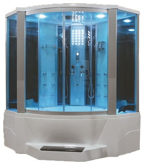 Steam Shower With Whirlpool Bathtub Combo Unit