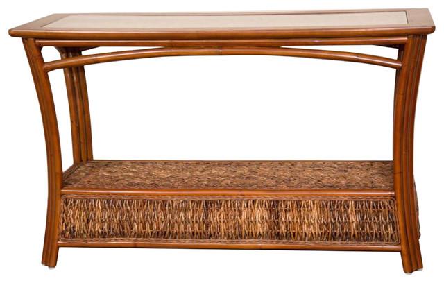 Panama Sofa Table With Gl Sienna