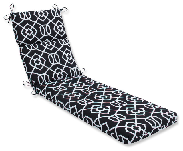 Out/Indoor Kirkland Chaise Lounge Cushion, Black