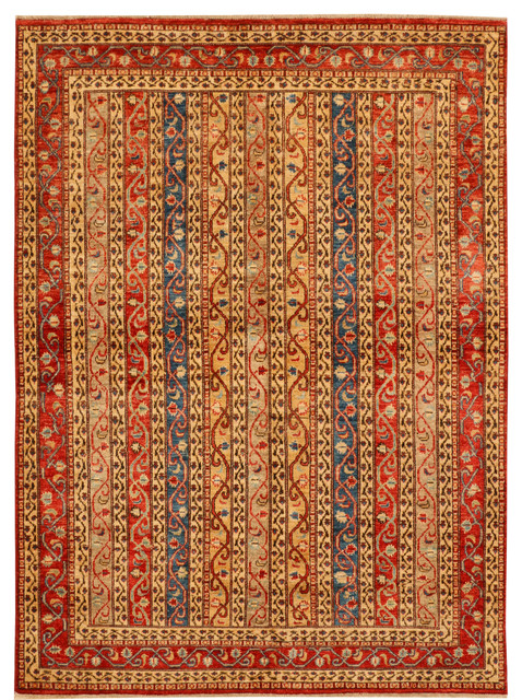 Handmade Afghan Shawl Rug Multi Colored 5 6 Quot X7 7