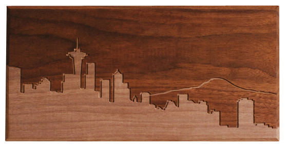 seattle skyline wall art artwork by dave marcoullier