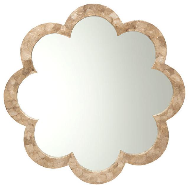 Flower Capiz Seashell Wall Mirror.