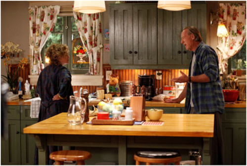 It S The Waltons Kitchen Homey Welcoming Simple And Love That Table Lovely Wood Tone On Giant Sink Looks Super Functional