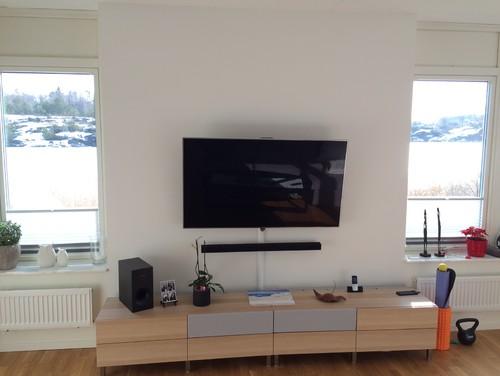 tv feature wall advice. Black Bedroom Furniture Sets. Home Design Ideas