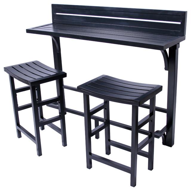 Balcony Bar 3 Piece Set, Onyx
