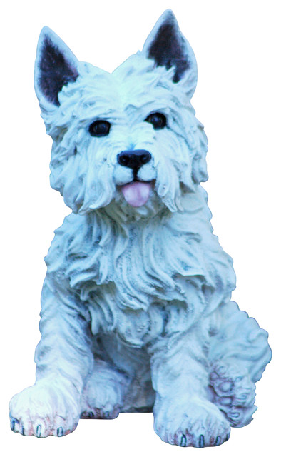 Westie Statue Transitional Garden Statues And Yard Art