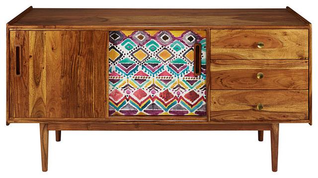 Credenza Cucina Con Cassetti : Credenza porte cassetti in legno massello di acacia stampato