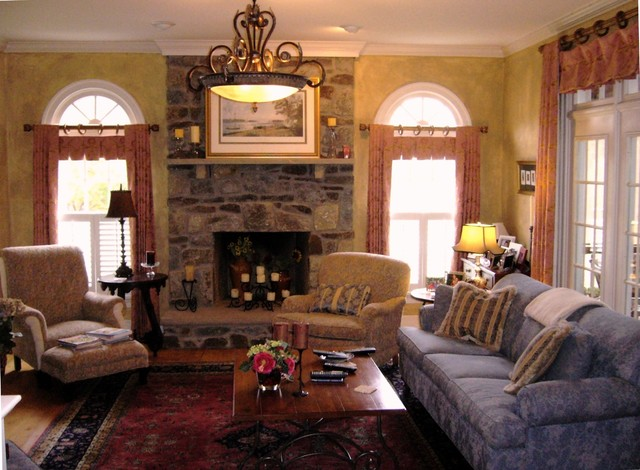 French Country Designs Family Room Transitional Family Room Dc Metro By Golden Interiors