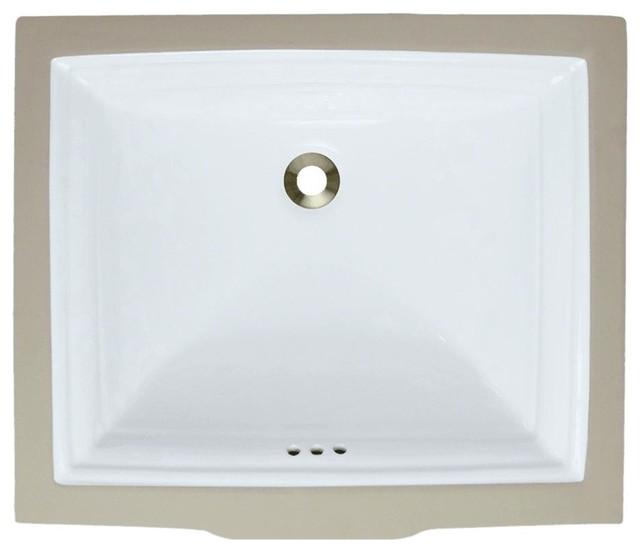 Undermount Sink, White, No Additional Accessories.