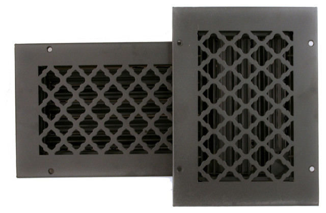 Cast Iron Look Tuscan Ceiling And Wall Registers With Damper Black