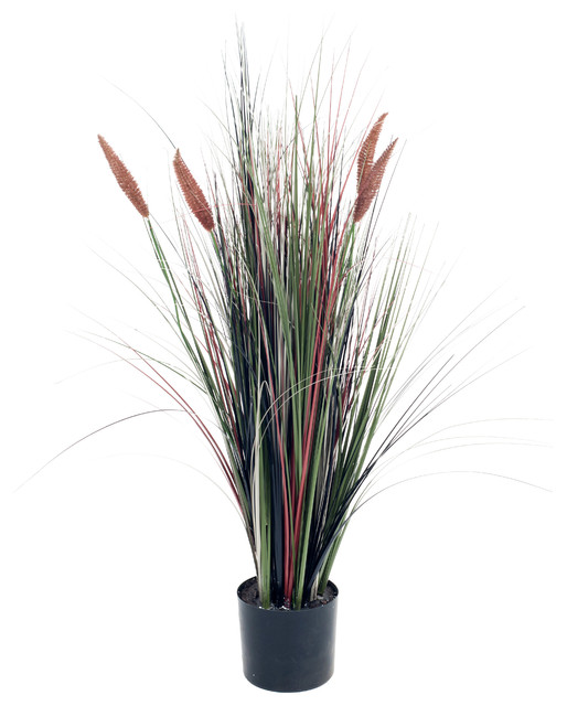 Artificial Ornamental Tall Cattail Grass 48 Quot By Pure
