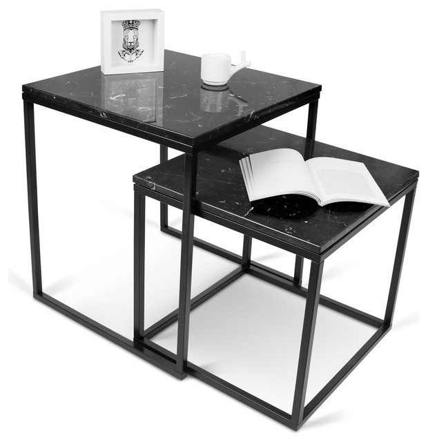 Prairie Nesting Table With Marble Tops Modern Side  : modern side tables and end tables from www.houzz.com size 620 x 640 jpeg 60kB