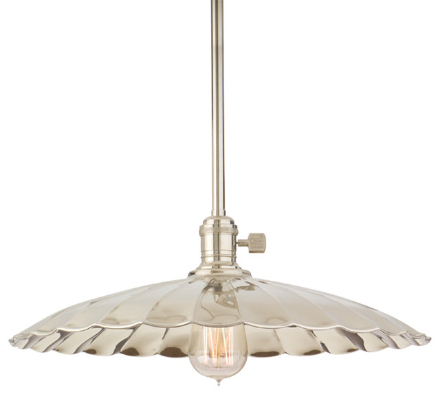 Hudson Valley Heirloom 1 Light Pendant, Polished Nickel.
