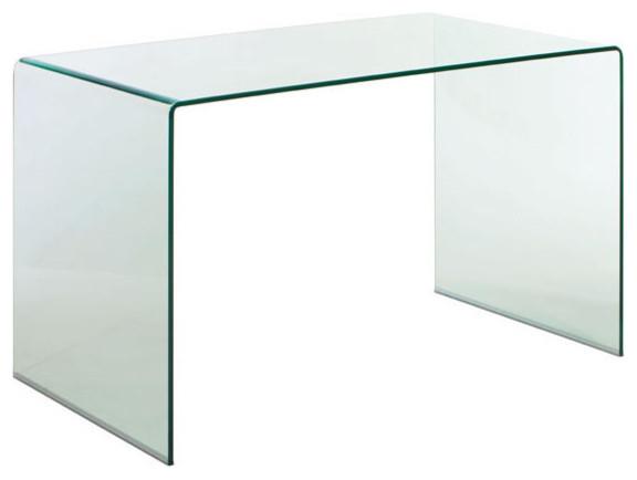 Desk, Tempered Glass.
