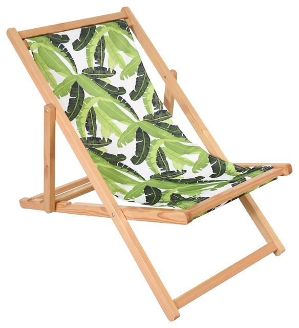 Adjustable Folding Cabana Chair Banana Leaf  sc 1 st  Houzz & Adjustable Folding Cabana Chair Banana Leaf - Tropical - Outdoor ...
