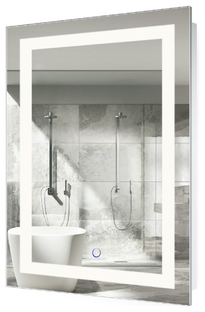 LED Lighted Bathroom Mirror With Defogger and Dimmer, 24\