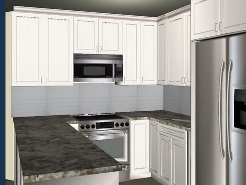 corner kitchen cabinets angled or not   rh   houzz com
