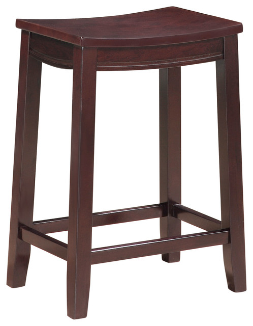 Aubree Wooden Saddle Stool, Counter Height.