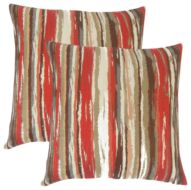 Uchenna Stripes Throw Pillows Set Of 2