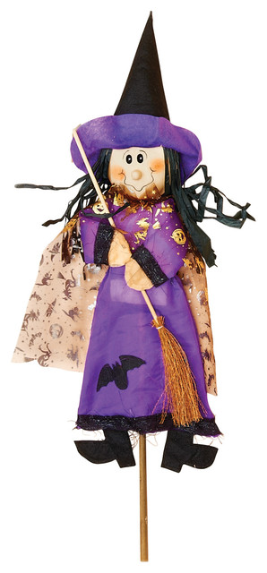 "36"" Witch On Stick Purple."