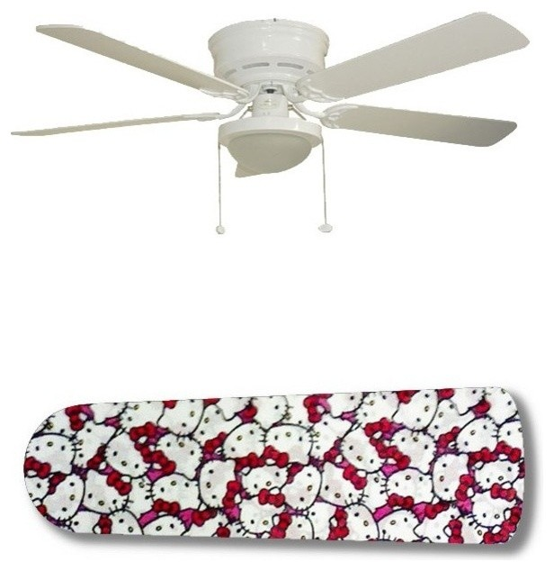 Hello Kitty Jam 52 Ceiling Fan With Lamp Contemporary Fans By 888 Cool