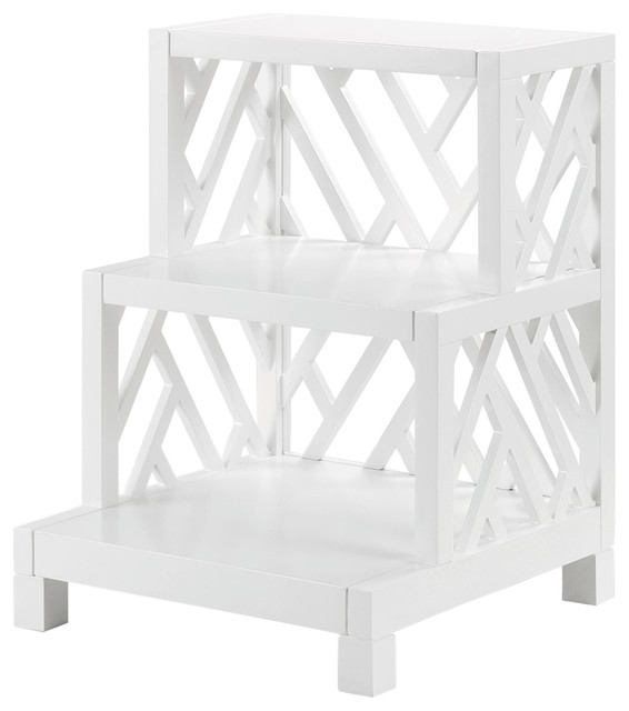 Bungalow 5 Nantucket Side Table In White Asian Side Tables And End