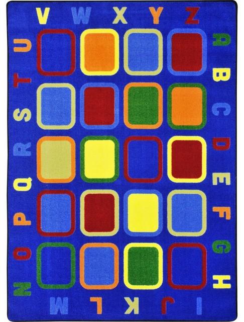 Kid Essentials Rug, Alphabet Tiles, 5&x27;4x7&x27;8.