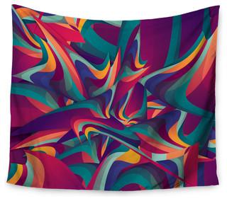 51 x 60 Kess InHouse Kess Original Marble Mosaic Geometric Digital Wall Tapestry