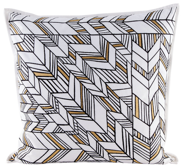 Dimond Home Golden Arrows Pillow with Goose Down Insert - Contemporary - Decorative Pillows - by ...