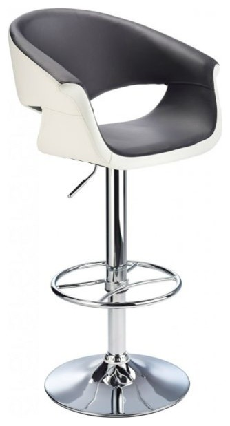 Apene Height Adjustable Bar Stool With Padded Back Contemporary