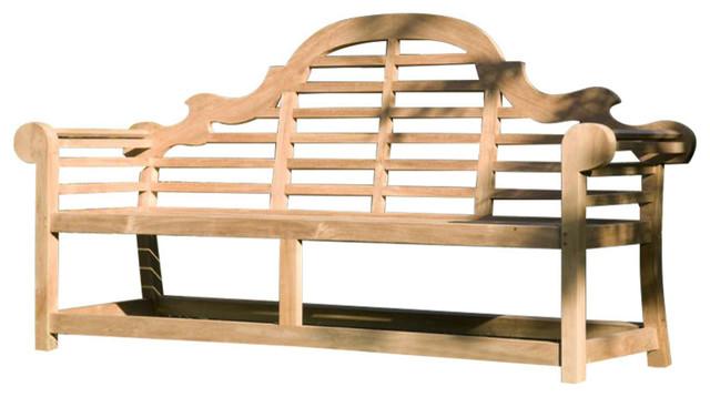 Midland Teak Decorative 2-Seater Garden Bench, 120 cm