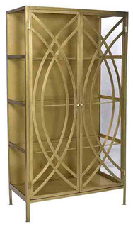 Brass and Glass Storage Cabinet