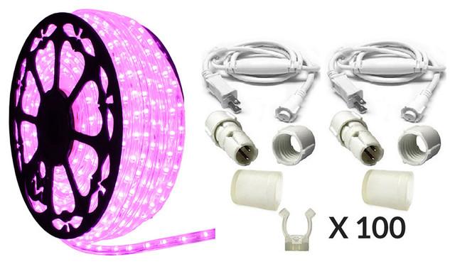120v Dimmable Led Pink Rope Light Premium Kit 513pro Series