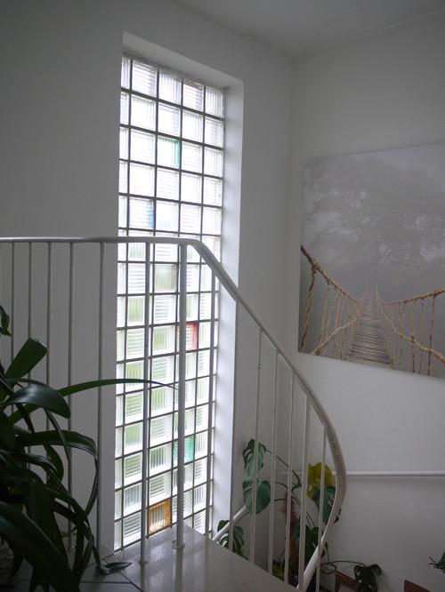ersatz von glasbausteinen im treppenhaus milch oder klarglas. Black Bedroom Furniture Sets. Home Design Ideas