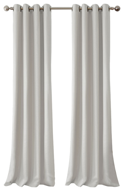 Catilie Grommet Pair Panel, Set Of 2, Gray