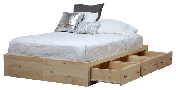 Knox Storage Bed, Unfinished, Queen.
