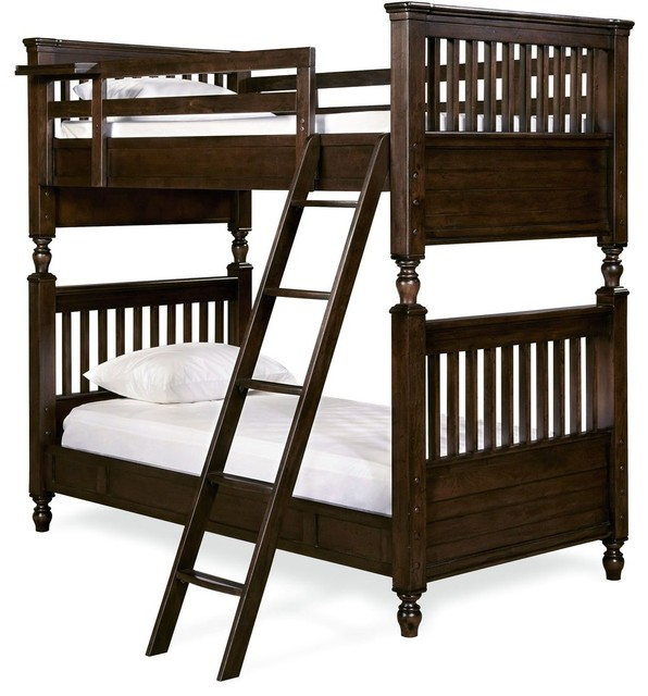 Guys Twin Over Twin Bunk Bed.