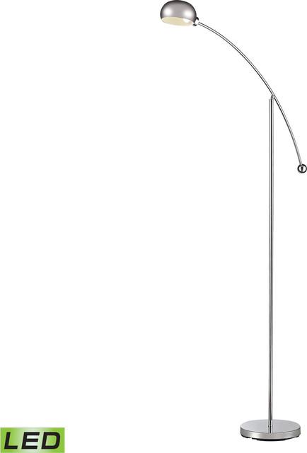 Louis Adjustable Led Floor Lamp, Polished Chrome.