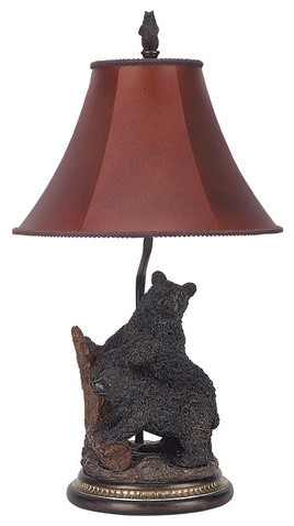 Cal lighting bo 520 100 watt 29 country rustic resin for 100 watt table lamps
