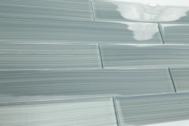 Heron Gray Hand Painted Subway Gl Tile Sample