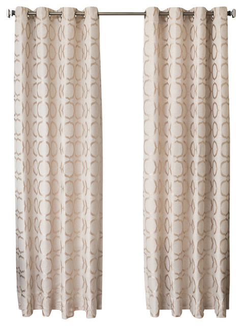 """Lasalle Grommet Top Curtains, Natural, 84""""."""