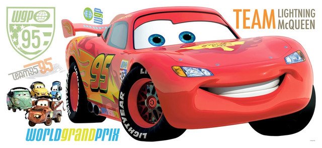 Roommate RMK1582GM Cars 2 Lightning McQueen Giant Wall Decal  Contemporary Kids Wall Decor Part 57