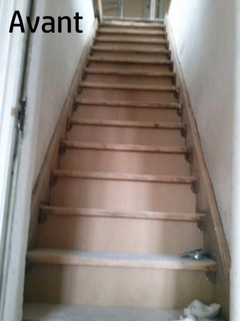 Super Peinture et pochoirs contremarches - Craftsman - Escalier - Reims  BM56