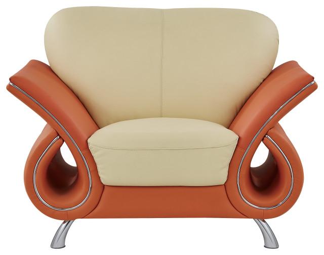 Global Furniture USA Beige And Orange Chair