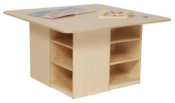 Kidu0027s Play 36 In. Square Cubby Table Contemporary Kids Tables And