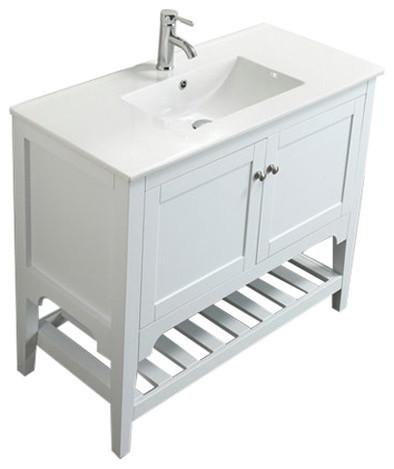 Aquamoon Rimini 40 Bathroom Vanity Transitional Bathroom Vanities And Sink Consoles By Aquamoon Houzz