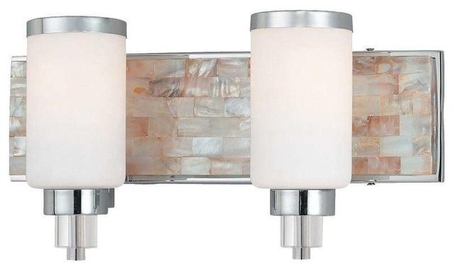 Portfolio 3 Light 22 In Brushed Nickel Bowl Vanity Light: Minka Lavery 3241-77 Cashelmara Bathroom Light In Chrome