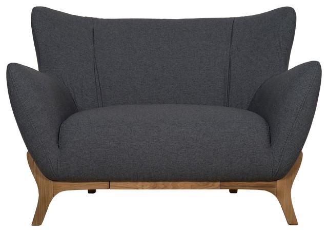 Wesley Scandinavian Armchair, Dark Grey
