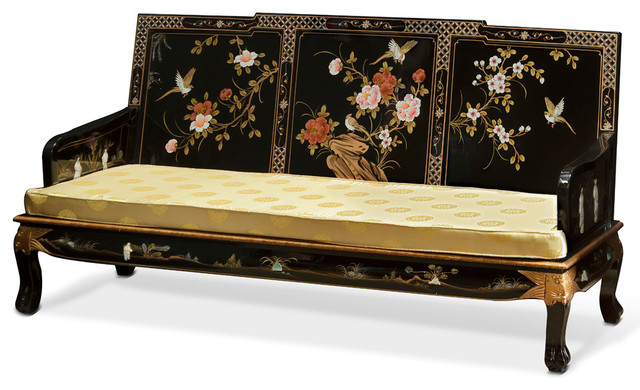 Beau Hand Painted Grand Imperial Sofa Couch With Cushion