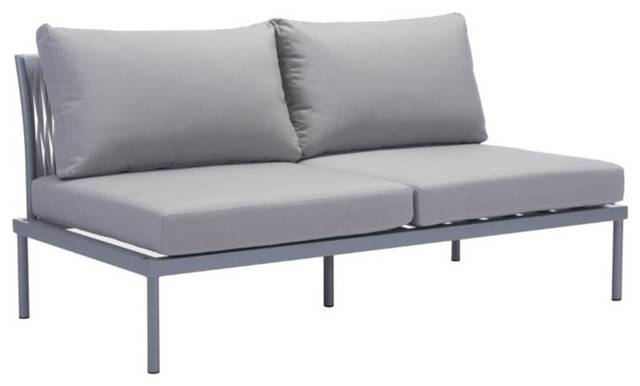Zuo Modern Sand Beach Outdoor Sofa In Gray Contemporary Outdoor Sofas